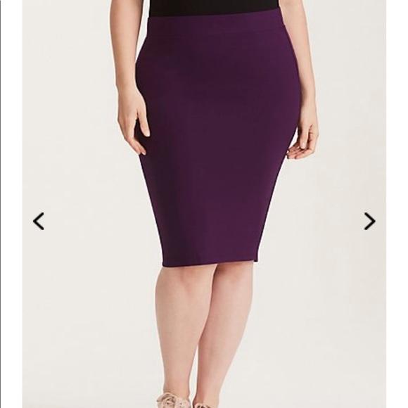 d49057b256e Torrid purple pencil skirt size one